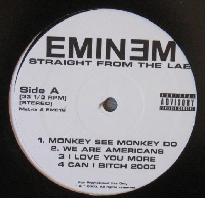 Eminem – Straight From The Lab EP (Vinyl) (2003) (FLAC + 320 kbps)