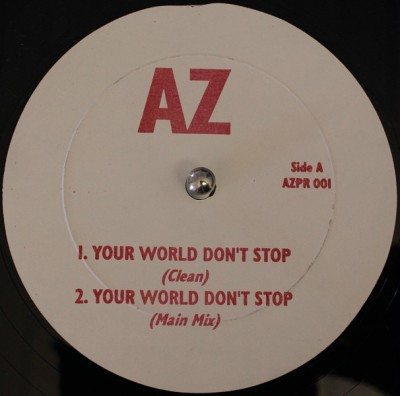 AZ – Your World Don't Stop (Original Version) (Promo VLS) (1995) (FLAC + 320 kbps)