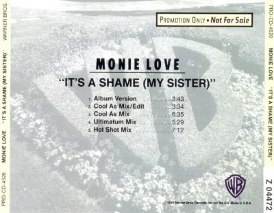 Monie Love – It's A Shame (My Sister) (Promo CDS) (1990) (FLAC + 320 kbps)