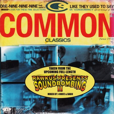 Common – One-Nine-Nine-Nine / Like They Used To Say (CDS) (1999) (FLAC + 320 kbps)