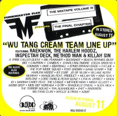 Funkmaster Flex – Wu-Tang Cream Team Line Up (CDS) (1998) (FLAC + 320 kbps)