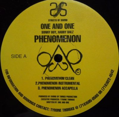 One And One – Phenomenon (VLS) (1996) (FLAC + 320 kbps)