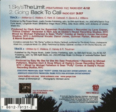 The Notorious B.I.G. – Sky's The Limit (Promo CDS) (1998) (FLAC + 320 kbps)