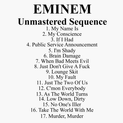 Eminem – Unmastered Sequence (CD) (1999) (FLAC + 320 kbps)