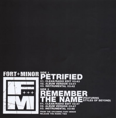 Fort Minor – Petrified / Remember The Name (CDS) (2005) (FLAC + 320 kbps)