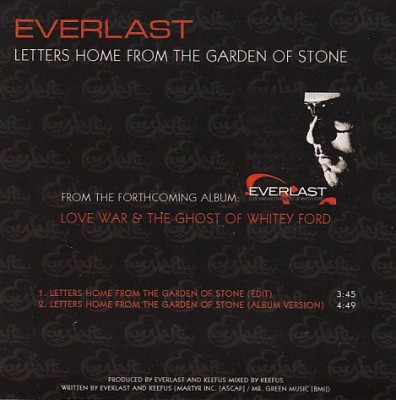 Everlast - Letters Home From The Garden Of Stone (Promo)