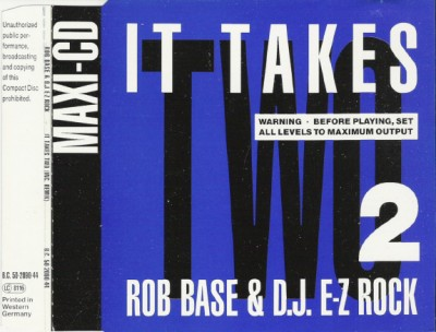 Rob Base & DJ E-Z Rock – It Takes Two (CDS) (1988) (FLAC + 320 kbps)