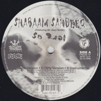Shabaam Sahdeeq - So Real -bw- It Could Happen