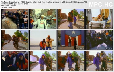 Cocoa Brovaz - (1998) Spanish Harlem (feat. Tony Touch & Hurricane G) (VHS) (www.1994hiphop.com).VOB