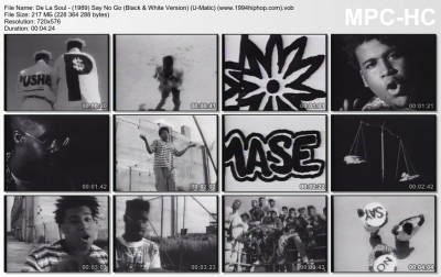 De La Soul - (1989) Say No Go (Black & White Version) (U-Matic) (www.1994hiphop.com).vob