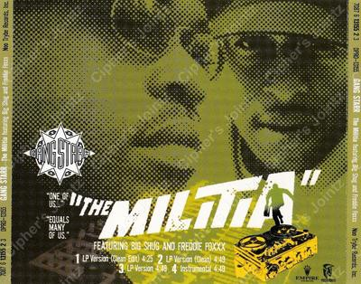 Gang Starr – The Militia (Promo CDS) (1998) (320 kbps)