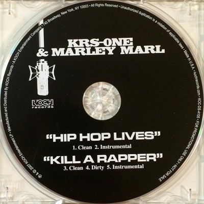 KRS-One & Marley Marl – Hip Hop Lives / Kill A Rapper (Promo CDS) (2007) (FLAC + 320 kbps)