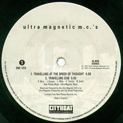 Ultramagnetic MC's - Travelling At The Speed Of Thought (VLS) (1987)