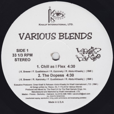 Various Blends - Chill As I Flex -bw- The Dopess (VLS) (1996)