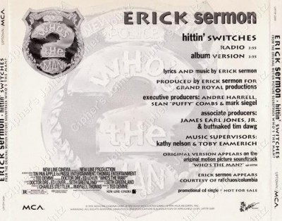 Erick Sermon – Hittin' Switches (Promo CDS) (1993) (320 kbps)