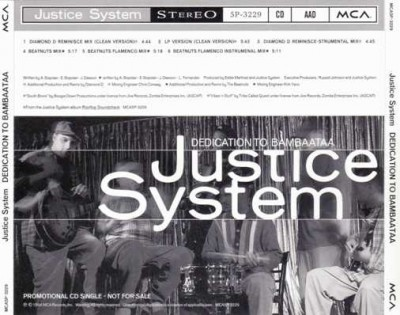 Justice System – Dedication To Bambaataa (Promo CDS) (1994) (320 kbps)
