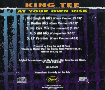 King Tee – At Your Own Risk (Promo CDS) (1990) (FLAC + 320 kbps)