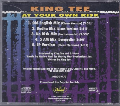 King Tee – At Your Own Risk (Promo CDS) (1990) (320 kbps)