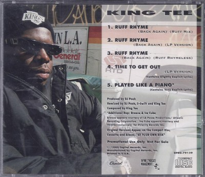 King Tee – Ruff Rhyme (Back Again) (Promo CDS) (1990) (320 kbps)