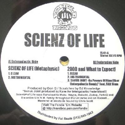 Scienz Of Life – Scienz Of Life (Metaphysic) / 2000 And What To Expect! (VLS) (1997) (FLAC + 320 kbps)
