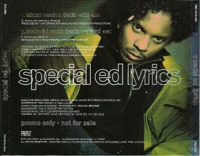 Special Ed – Lyrics (Promo CDS) (1995) (320 kbps)