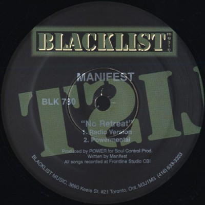 Manifest - No Retreat