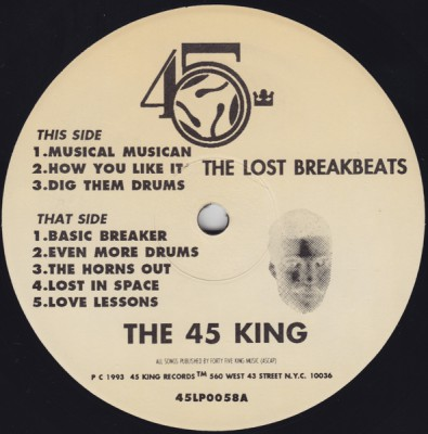 The 45 King – The Lost Breakbeats: The Beige Album (Vinyl) (1996) (FLAC + 320 kbps)
