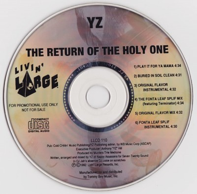 The Return Of The Holy One CD