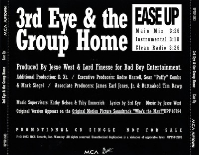 3rd Eye & Group Home – Ease Up (Promo CDS) (1993) (320 kbps)