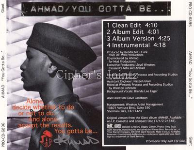 Ahmad – You Gotta Be… (Promo CDS) (1994) (320 kbps)