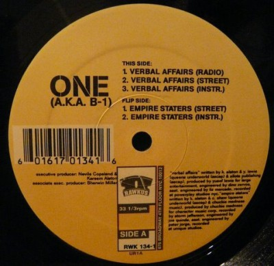 B-1 - Verbal Affairs -bw- Empire Staters