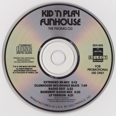 Kid 'N Play – Funhouse (Promo CDS) (1990) (320 kbps)