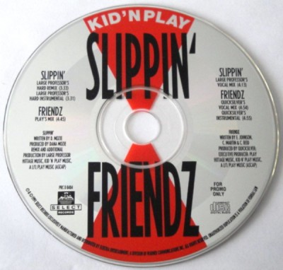 Kid 'N Play – Slippin' / Friendz (Promo CDS) (1991) (320 kbps)