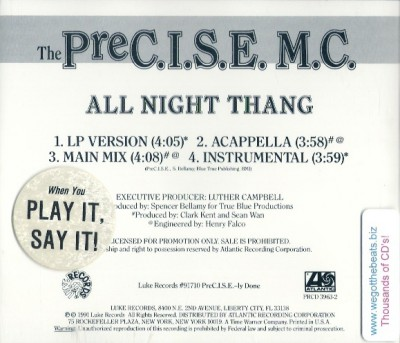 The Precise MC - All Night Thang