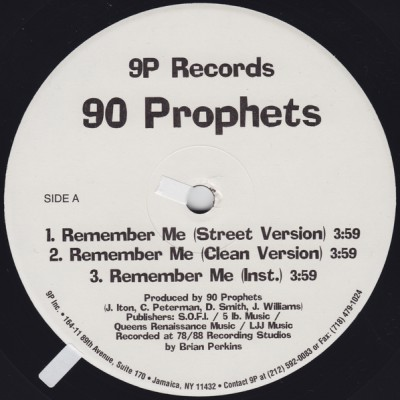 90 Prophets - Remember Me
