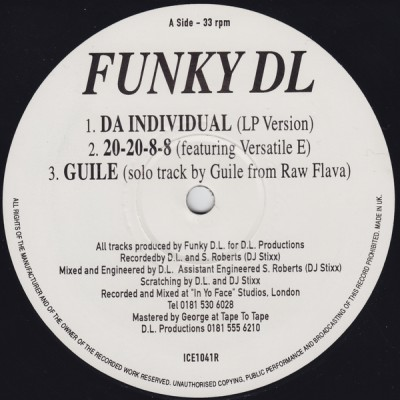 Funky DL & Guile – Da Individual EP (Vinyl) (1996) (FLAC + 320 kbps)