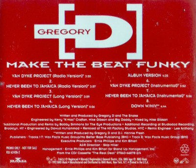 Gregory D – Make The Beat Funky (Promo CDS) (1992) (320 kbps)