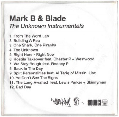 Mark B & Blade - The Unknown Instrumentals