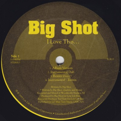 Big Shot – I Love This (VLS) (1995) (FLAC + 320 kbps)