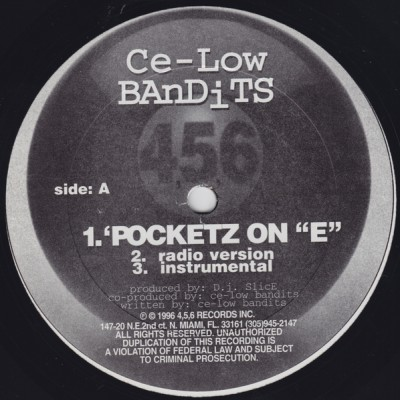 "Ce-Low Bandits – Pocketz On & ""E"" / School Bugged (VLS) (1996) (FLAC + 320 kbps)"