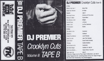 DJ Premier – Crooklyn Cuts Volume III: Tape B (Cassette) (1996) (FLAC + 320 kbps)