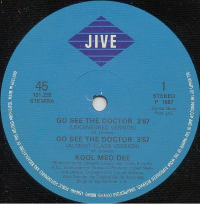 Kool Moe Dee – Go See The Doctor / Monster Crack (VLS) (1986) (FLAC + 320 kbps)