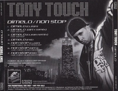 Tony Touch – Dimelo / Non Stop (Promo CDS) (2004) (320 kbps)