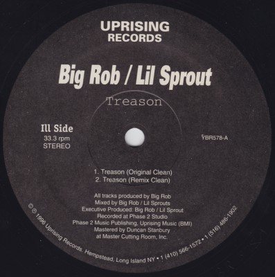 Big Rob & Lil Sprout - Treason (1996)