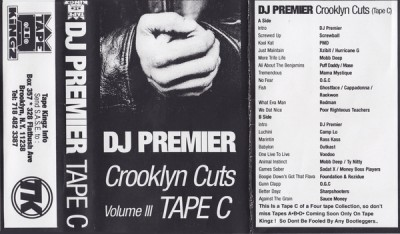 DJ Premier – Crooklyn Cuts Volume III: Tape C (Cassette) (1996) (FLAC + 320 kbps)