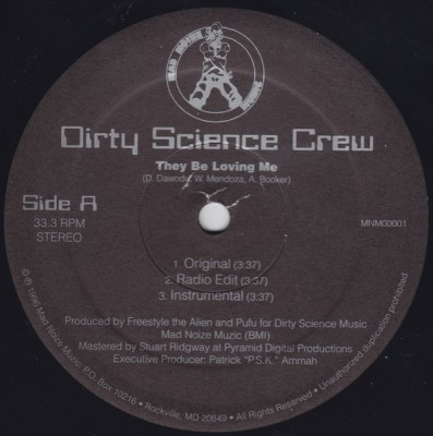 Dirty Science Crew – They Be Loving Me (VLS) (1996) (FLAC + 320 kbps)