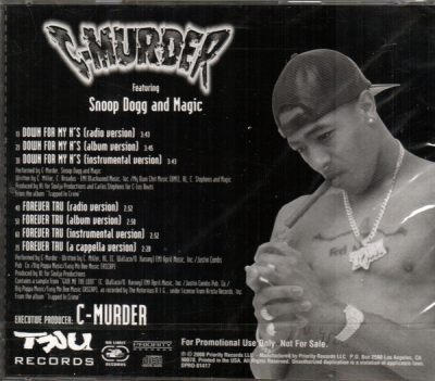 C-Murder – Down For My N's / Forever TRU (Promo CDS) (2000) (FLAC + 320 kbps)