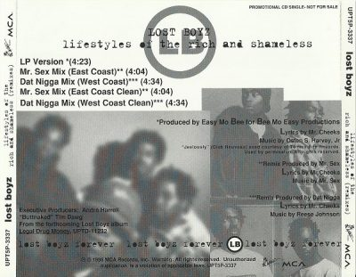 Lost Boyz – Lifestyles Of The Rich And Shameless (Remixes) (Promo CDS) (1995) (320 kbps)
