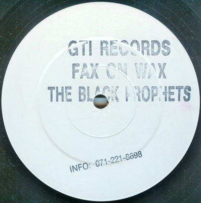 The Black Prophets - Fax On Wax