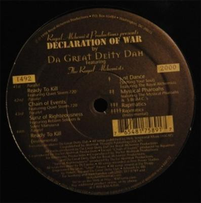 Da Great Deity Dah - Declaration Of War